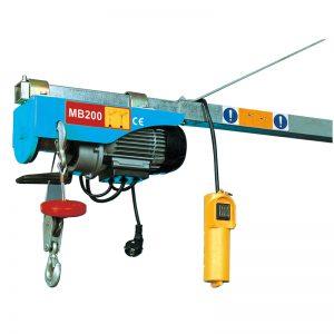 MB200 Mini Electric Hoist, elektr qo'l ko'targich